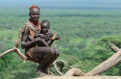 ethiopian folk Royaltyfri Bild