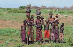 ethiopian folk Arkivbild