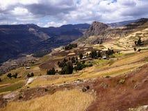 Ethiopian Highlands near Lalibela. A part of the trek to Abuna Yosef, the highest peak in the mountains surrounding Lalibela Stock Images