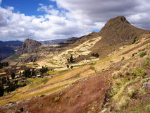 Ethiopian Highlands. A part of three-day trek around Lalibela Royalty Free Stock Image