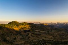 Ethiopian highlands at sunrise Royalty Free Stock Photography