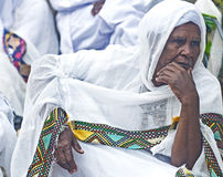 Ethiopian holy fire ceremony Stock Photography