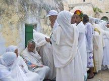 Ethiopian holy fire ceremony Stock Photo