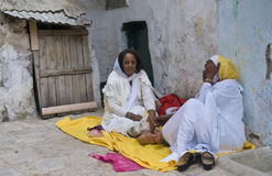 Ethiopian holy fire ceremony Royalty Free Stock Photos