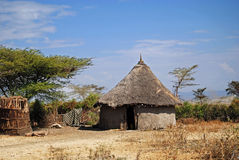 Ethiopian hut. Traditional ethiopian hut on the countryside stock images