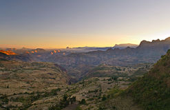 Ethiopian landscape at dawn Stock Image