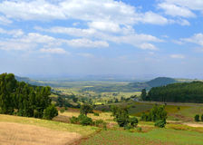 Ethiopian landscape nature. Valley in the valley of the mountain Royalty Free Stock Photo