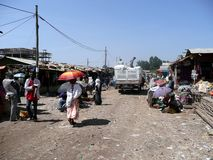 Ethiopian market Royalty Free Stock Images