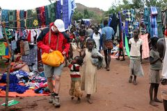 ethiopian marknad Royaltyfri Foto