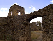 Ethiopian monastery. Ethiopian highlands monastery wall and tower Royalty Free Stock Images