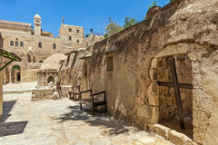 Ethiopian monastic cells in jerusalem, israel. Royalty Free Stock Photos