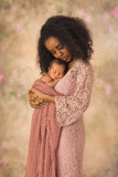 Ethiopian Mother bonding with her baby royalty free stock photo