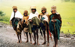 Ethiopian mountain people Royalty Free Stock Images