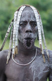 Ethiopian mursi woman  Royalty Free Stock Photography