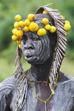 Ethiopian mursi woman portrait Royalty Free Stock Photo