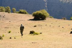 Ethiopian National Park ranger Stock Images