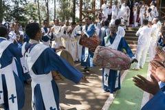Ethiopian Orthodox Church Choir Stock Photo