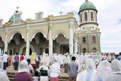 Ethiopian Orthodox Good Friday mass Stock Image