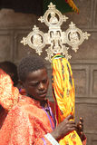Ethiopian orthodox procession, in Ethiopia stock image