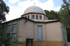 St. Mark Ethiopian Orthodox Tewahdo Church building in Addis Ababa, Adjacent to Addis Ababa University, 6 kilo campus. Ethiopian Orthodox Tewahdo Church building stock photos