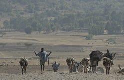 Ethiopian people on the road Stock Photo