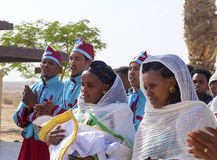 Ethiopian pilgrims singing Stock Image