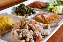 Ethiopian sampler plate Stock Photos