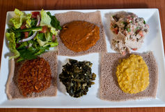 Ethiopian sampler plate Royalty Free Stock Photo