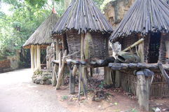 Ethiopian style huts- Africa Royalty Free Stock Photos
