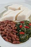 ethiopian ugali grönsaker Arkivbilder