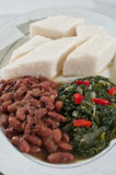 Ethiopian Ugali with vegetables Stock Images