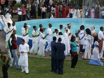 Ethiopian wedding stock photo