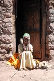 Ethiopian Woman. Woman in Lalibela, Ethiopia, showing the rife poverty in the typical dress and headdress of the coptic religion Stock Images