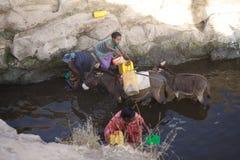 Ethiopian women and water supply Stock Photo