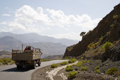 Ethiopian workers on a truck. Royalty Free Stock Photo