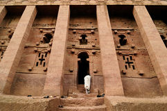 Ethiopians des orthodoxen Glaubens in Lalibela Stockfotografie