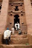 Ethiopians des orthodoxen Glaubens in Lalibela Stockbild