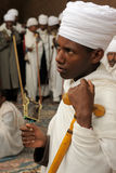 Ethiopians of orthodox faith in Lalibela Stock Photography