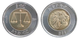 Ethiopisch birrmuntstuk Stock Foto