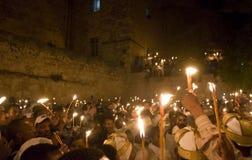 Ethiopische heilige brandceremonie Stock Fotografie