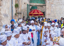 Ethiopische heilige brandceremonie Stock Foto's