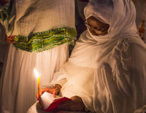 Ethiopische heilige brandceremonie Stock Afbeelding
