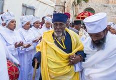 Ethiopische heilige brandceremonie Stock Foto