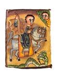 Ethiopische Heilige George Royalty-vrije Stock Foto's