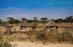 Ethiopische hutten Royalty-vrije Stock Fotografie