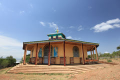 Ethiopische orthodoxe kerk, in Ethiopië stock fotografie