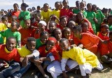Ethiopische Uitvoerders die de Dag van de Hulp van de Wereld vieren Royalty-vrije Stock Fotografie