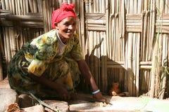 Ethiopische Vrouw Royalty-vrije Stock Afbeelding