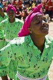 Ethiopische Vrouwen die een Dans uitvoeren Stock Foto's