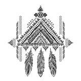 Улавливатель мечты орнамента вектора ацтекский мексиканский племенной Африканское ethn Стоковые Фотографии RF
